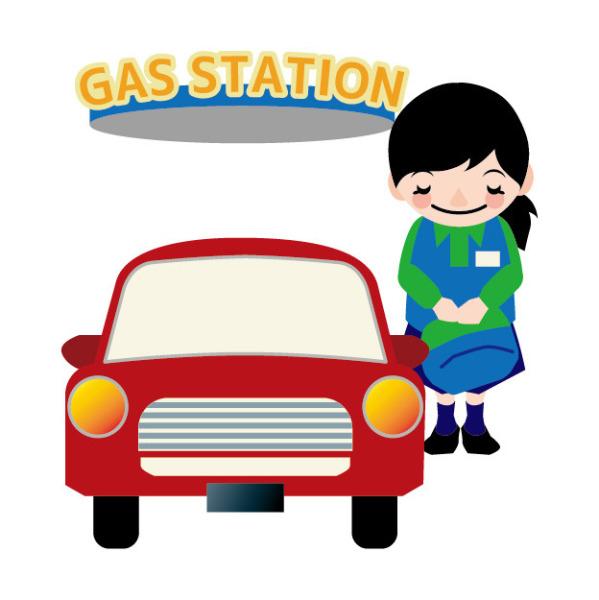 ガソリンスタンドの受付スタッフ(フロント)